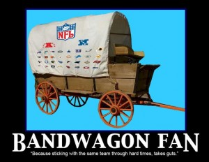 Super Bowl XLVII-Die Hards v. Bandwagon fans
