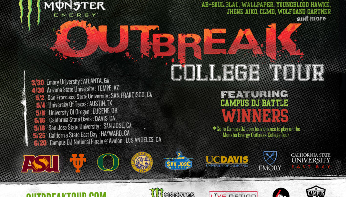 This Rocks – Monster Energy Outbreak College Nor/So Cal dates