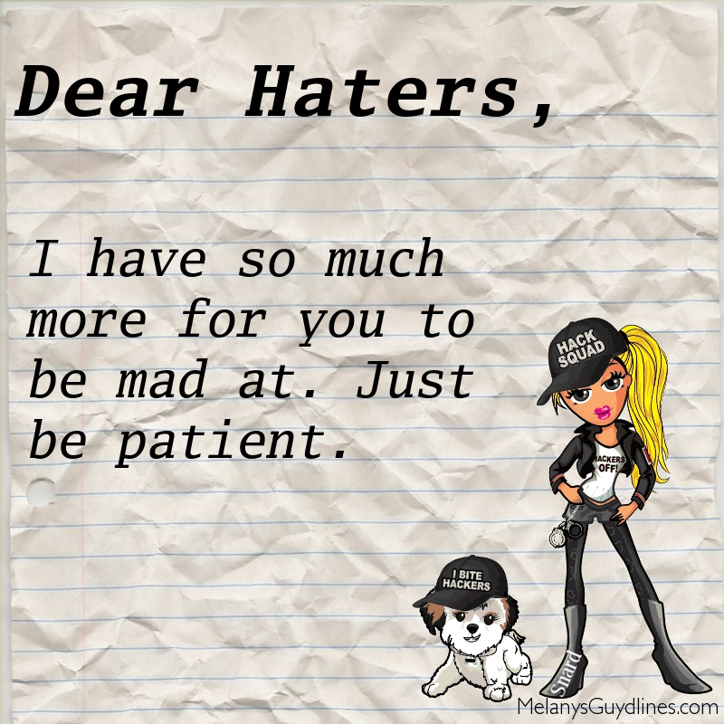 Haters and snardsw