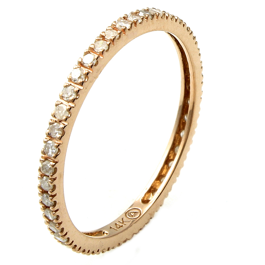 Beverly Hills Charm 14K Rose Gold Diamond Band