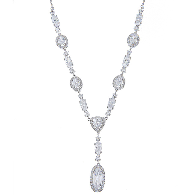 La-Preciosa-Sterling-Silver-Multi-Shaped-CZ-Necklace-L13433135