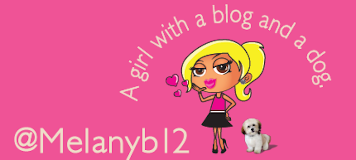 A girl with a dog and a blog