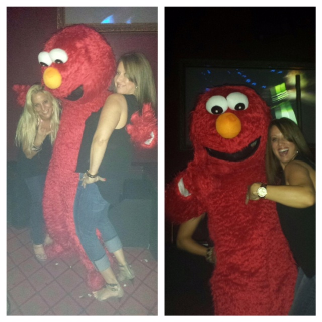 Elmo was looking down my shirt!