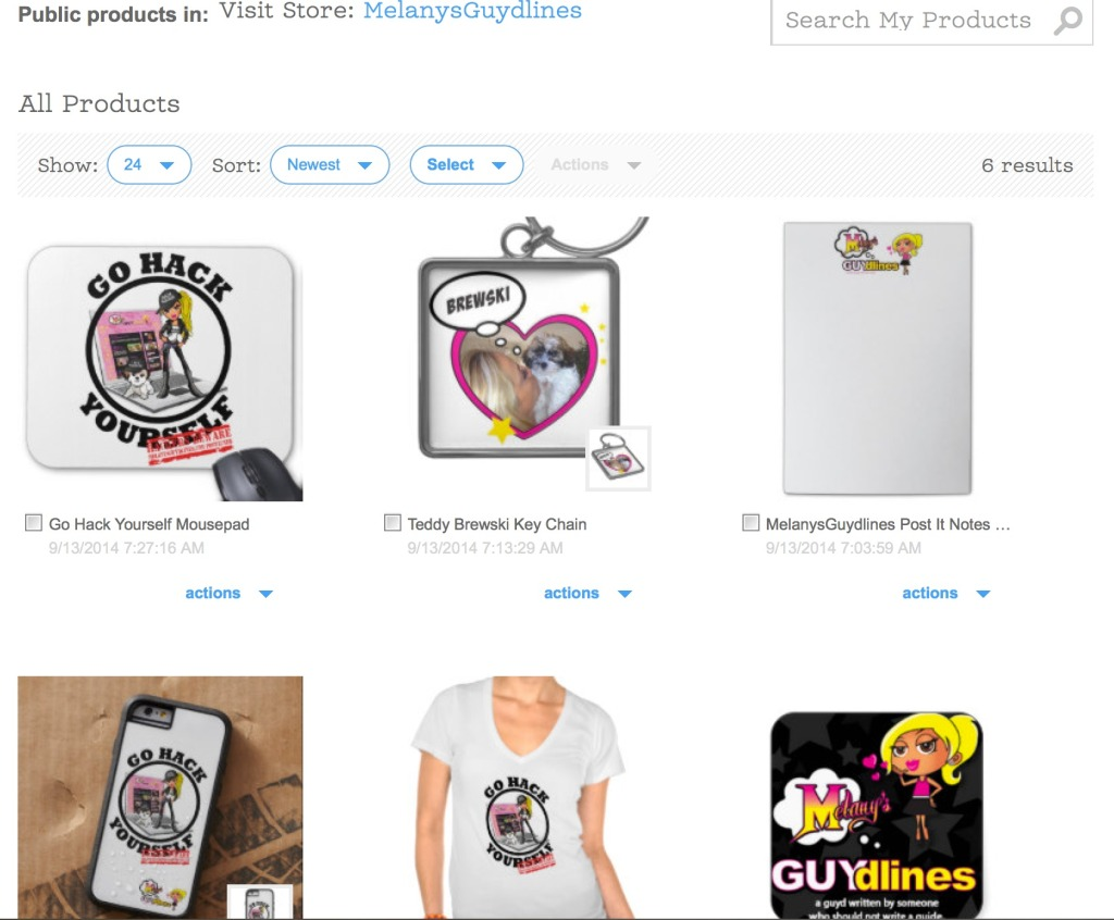 Melanysguydlines Zazzle store