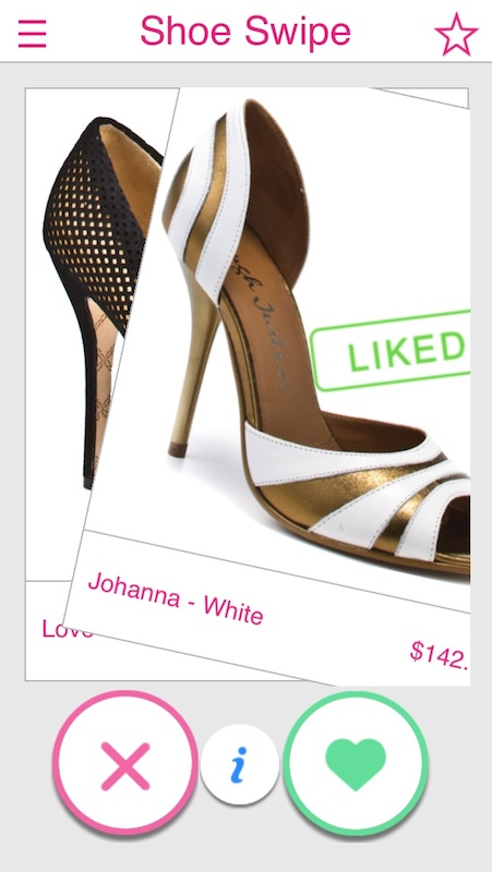 tinder for shoes - shoe swipe