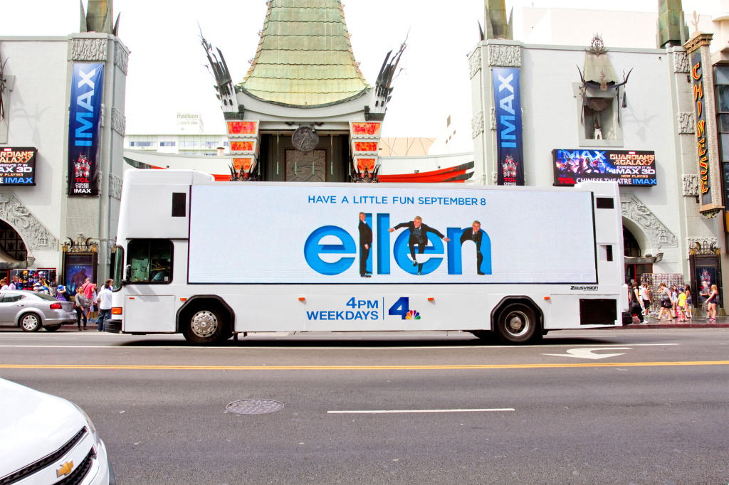 ellen on Zeusvision bus