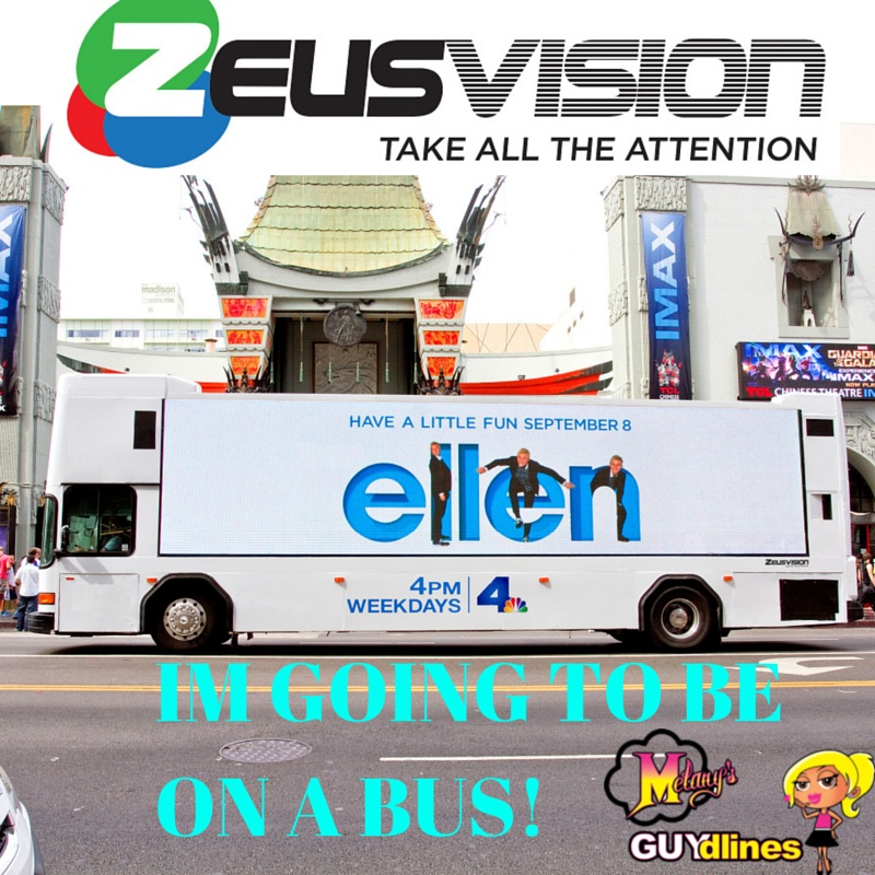 Melanysguydlines on a Zeusvision bus