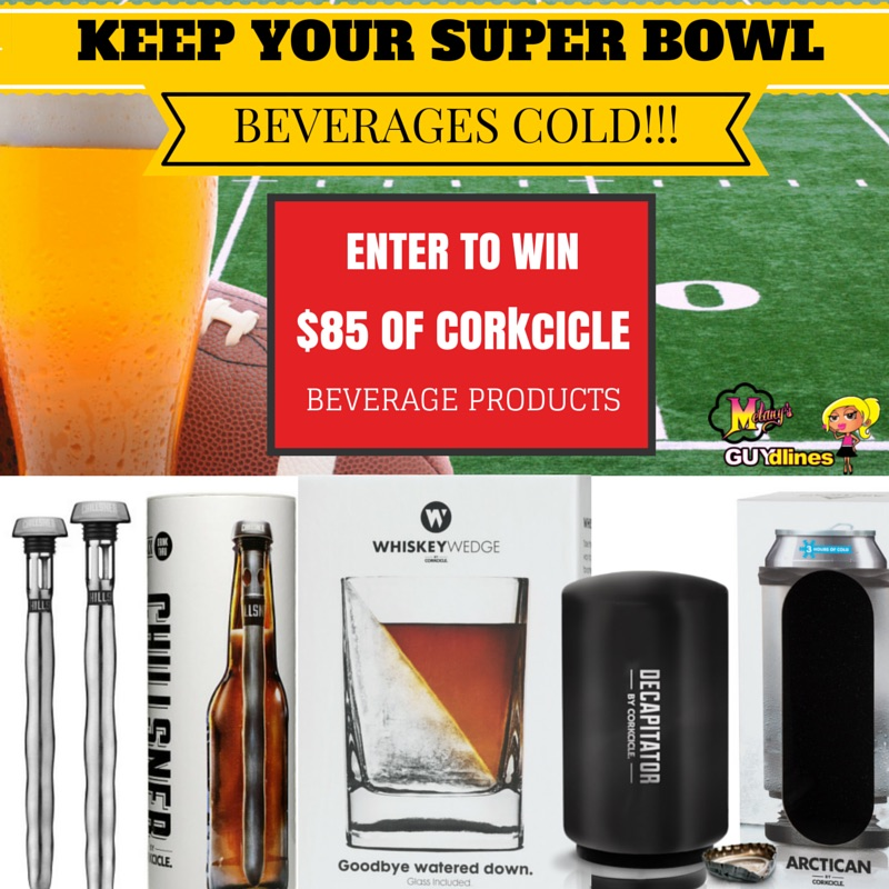 Keep your Super Bowl beverages cold  - enter to win $85 of corkcicle beverage accessories
