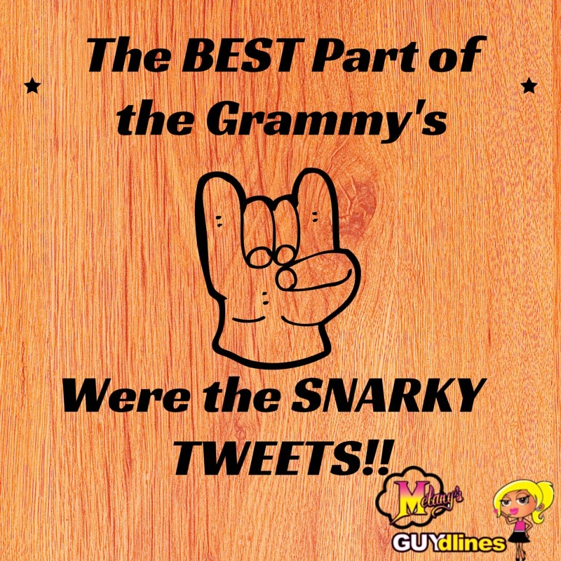 The best part of the Grammy's were the Snarky tweets!