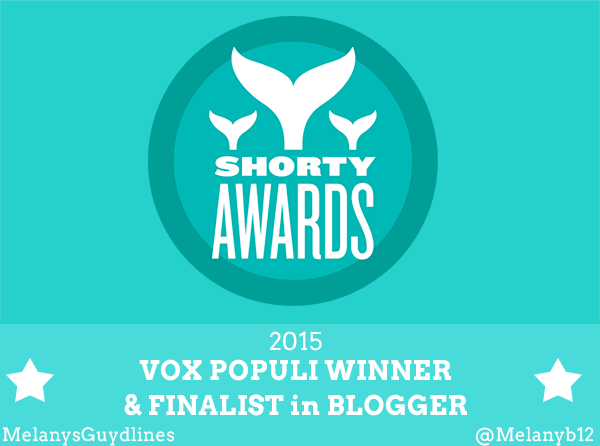 Shorty Awards 2015 Vox Populi Winner & Finalist in Blogger