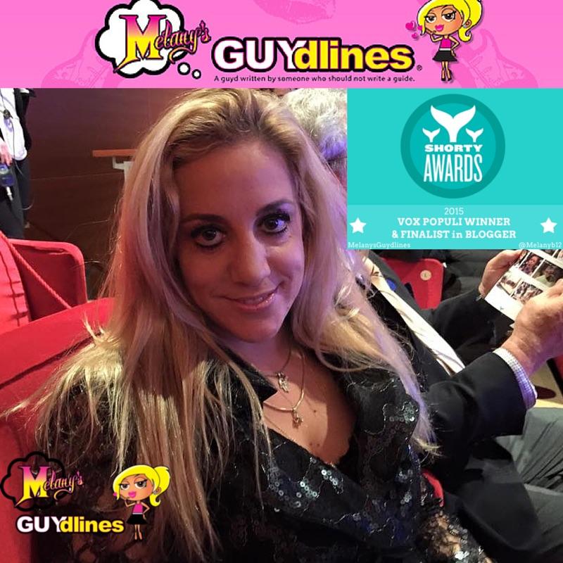 Melanysguydlines Vox Populi Blogger winner Shorty Awards 2015