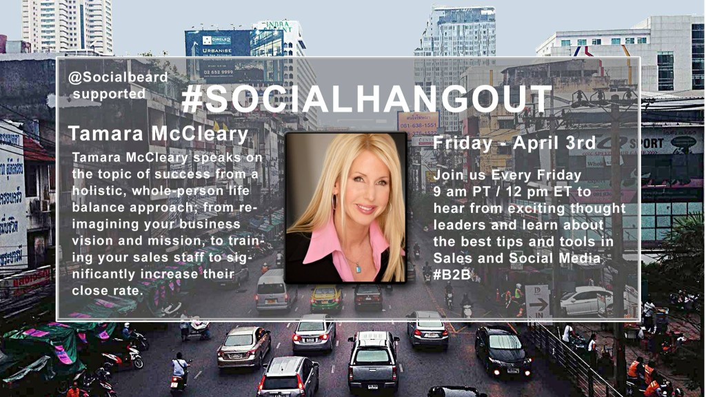 Tamara McCleary on Social Hangout