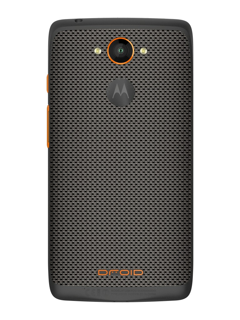 DROID Turbo By Motorola in Gray Ballistic Nylon Metallic Orange