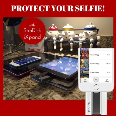 Protect Your Selfie With SanDisk iXpand