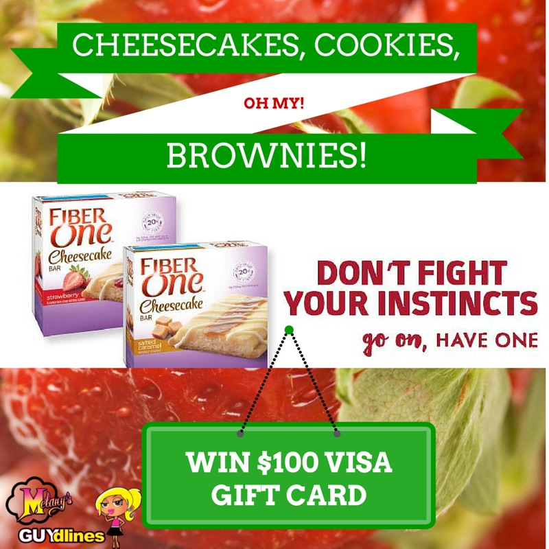 Cheesecakes, Cookies, Brownies Oh My! Win $100 Visa Gift Card from Fiber One