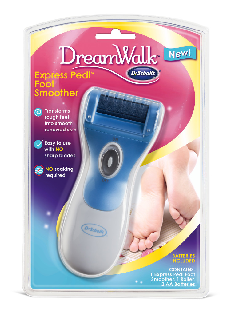 I can give myself my own pedi at home with the Dr. Scholl's NEW DreamWalk Express Pedi Foot Smoother.