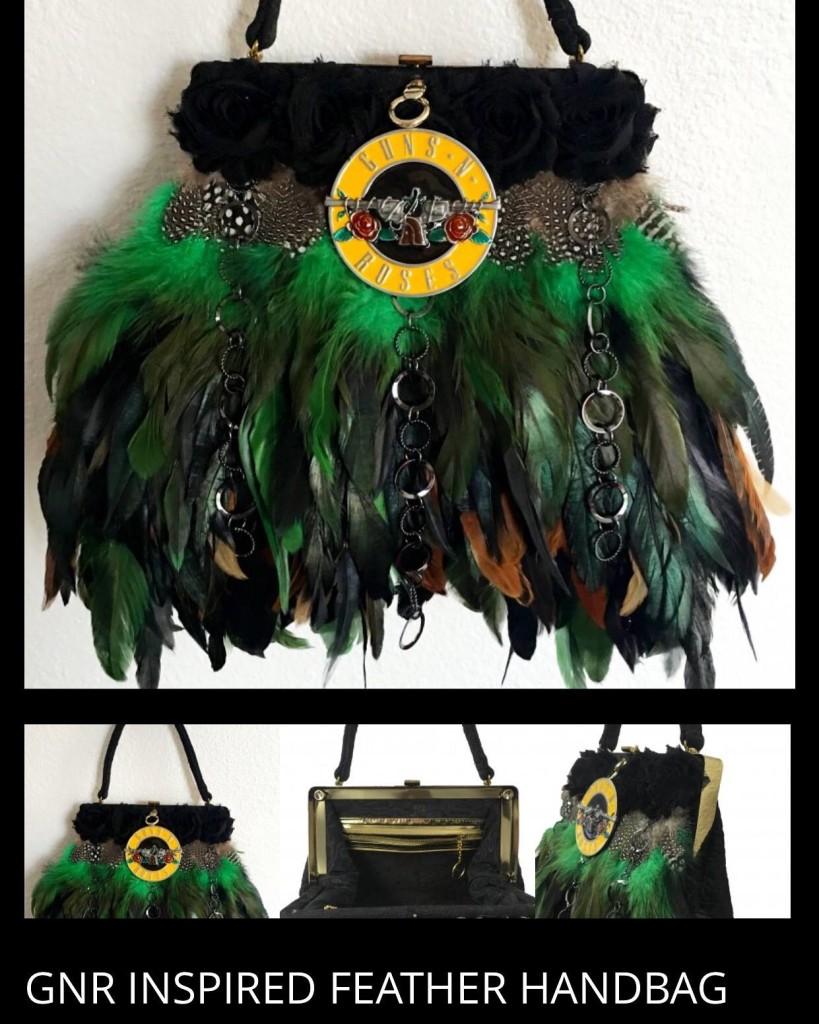 This one of a kind, ICJUK, hand made Guns N' Roses handbag