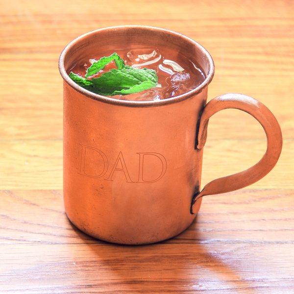'Dad' Moscow Mule Copper Mug with Polishing Cloth