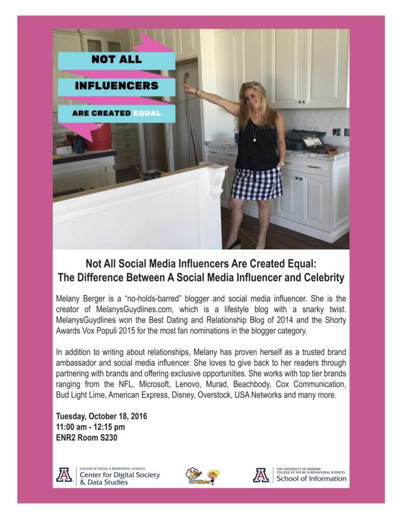 I'm A Guest Lecturer At The University of Arizona Again: Social Media Influencer vs. Celebrity