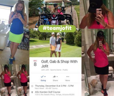 Join Me For Golf And Freebies From Jofit Apparel Dec. 8, 2016 In Tempe, AZ