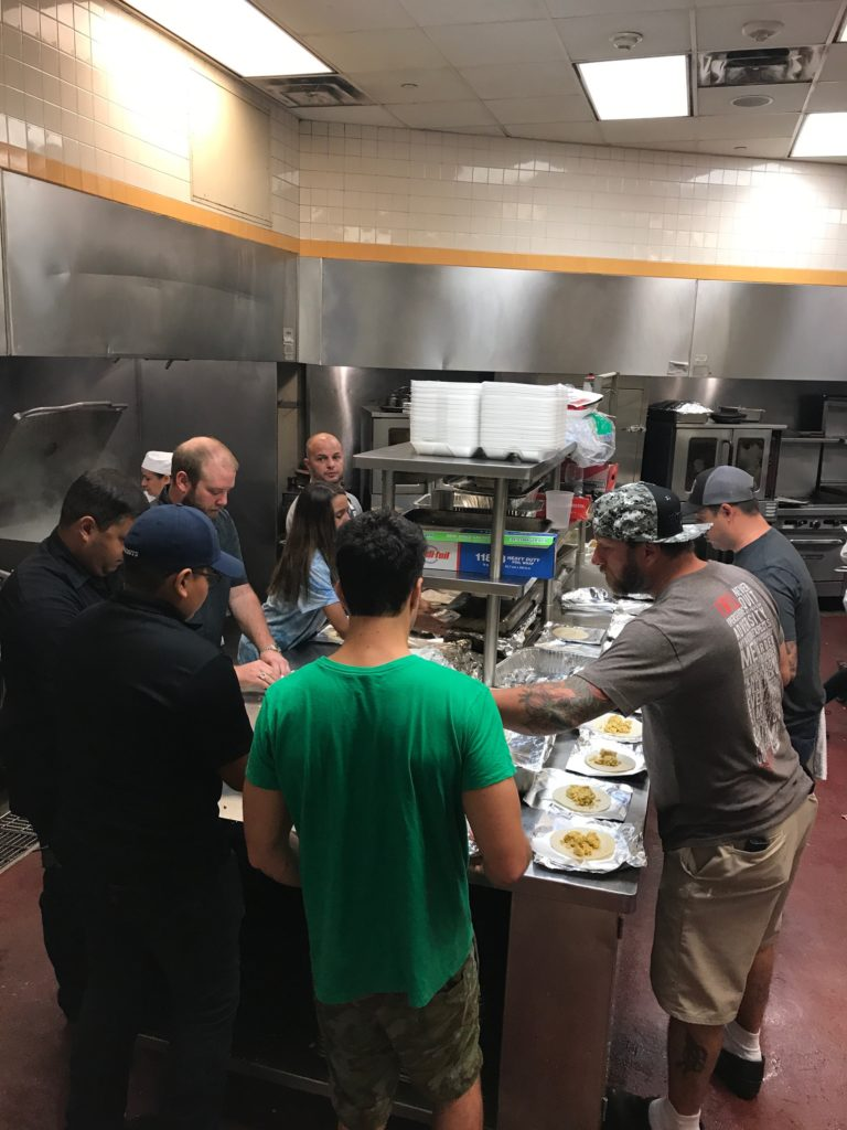 Cake & Bacon Team making 2000 tacos