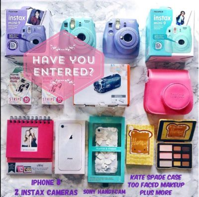 Instagram Giveaways Galore: iPhone, Camera, Makeup and More