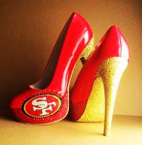 san francisco 49ers high heels