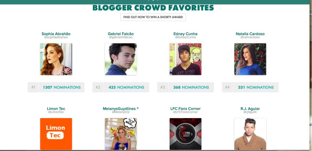 Melanysguydlines for a shorty award