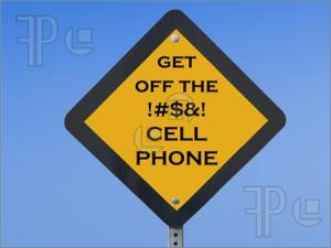 get off cell phone