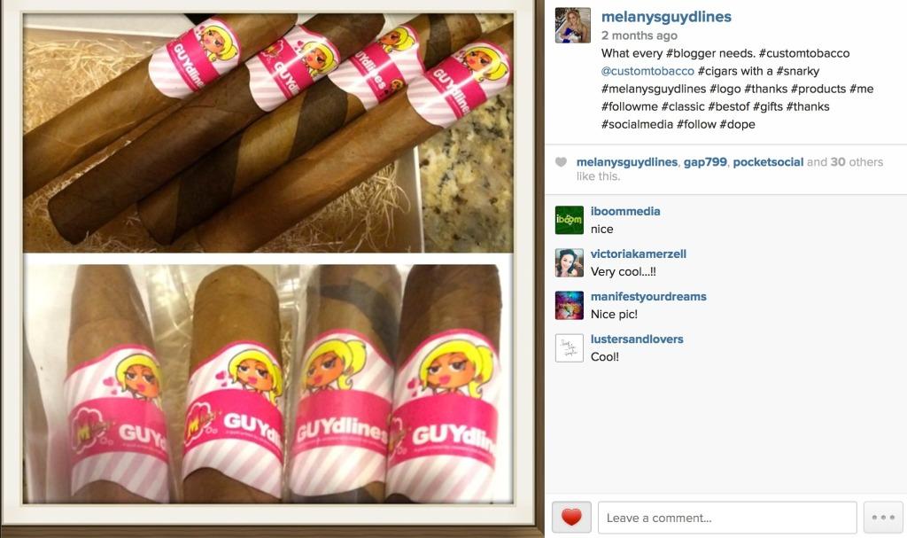 Melanysguydlines custom tobacco cigars