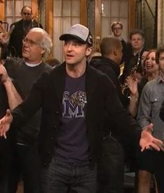 I mean check out Justin Timberlake rocking a Retro Brand shirt on one of his appearances on SNL. (Isn't that Chevy Chase in the background?)