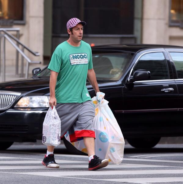 Adam Sandler in Retro Brand Gear