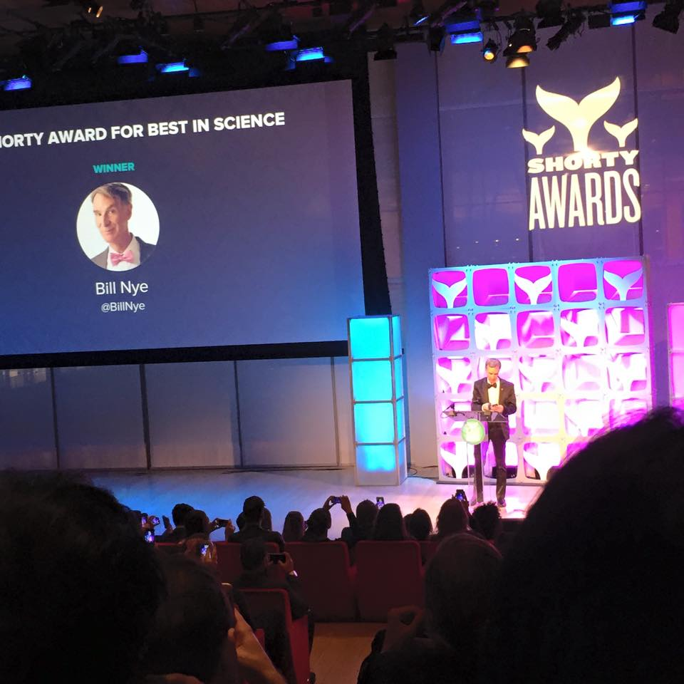 Bill Nye the Science Guy at the Shorty Awards 2015