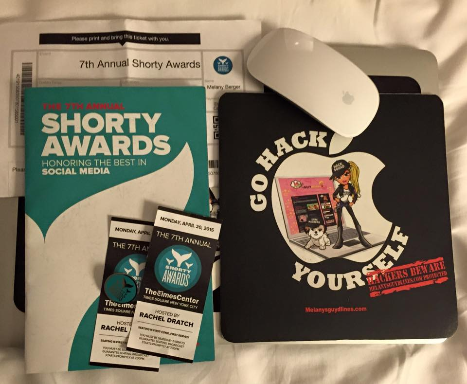 Shorty Awards 2015 Melanysguydlines