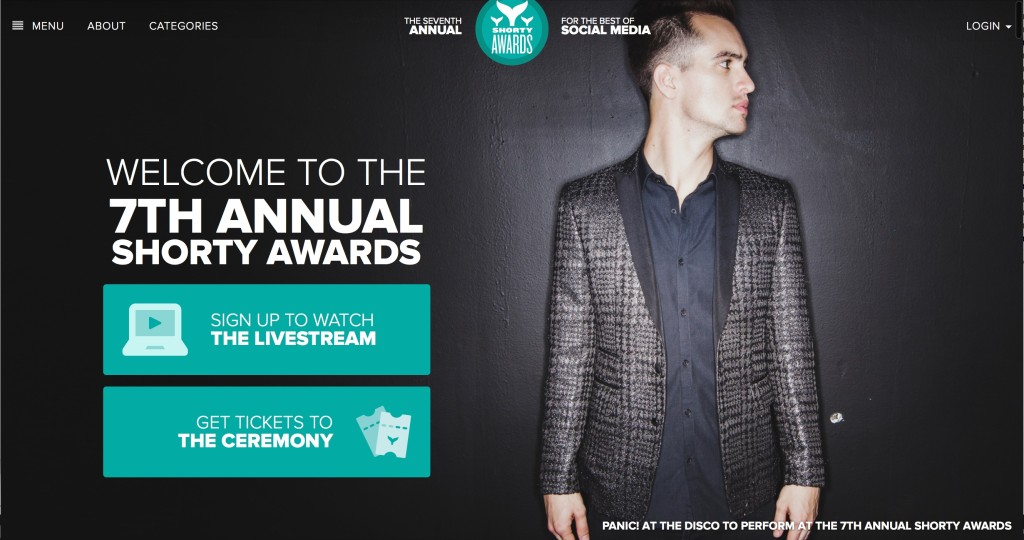 Panic at the Disco Is playing the Shorty Awards