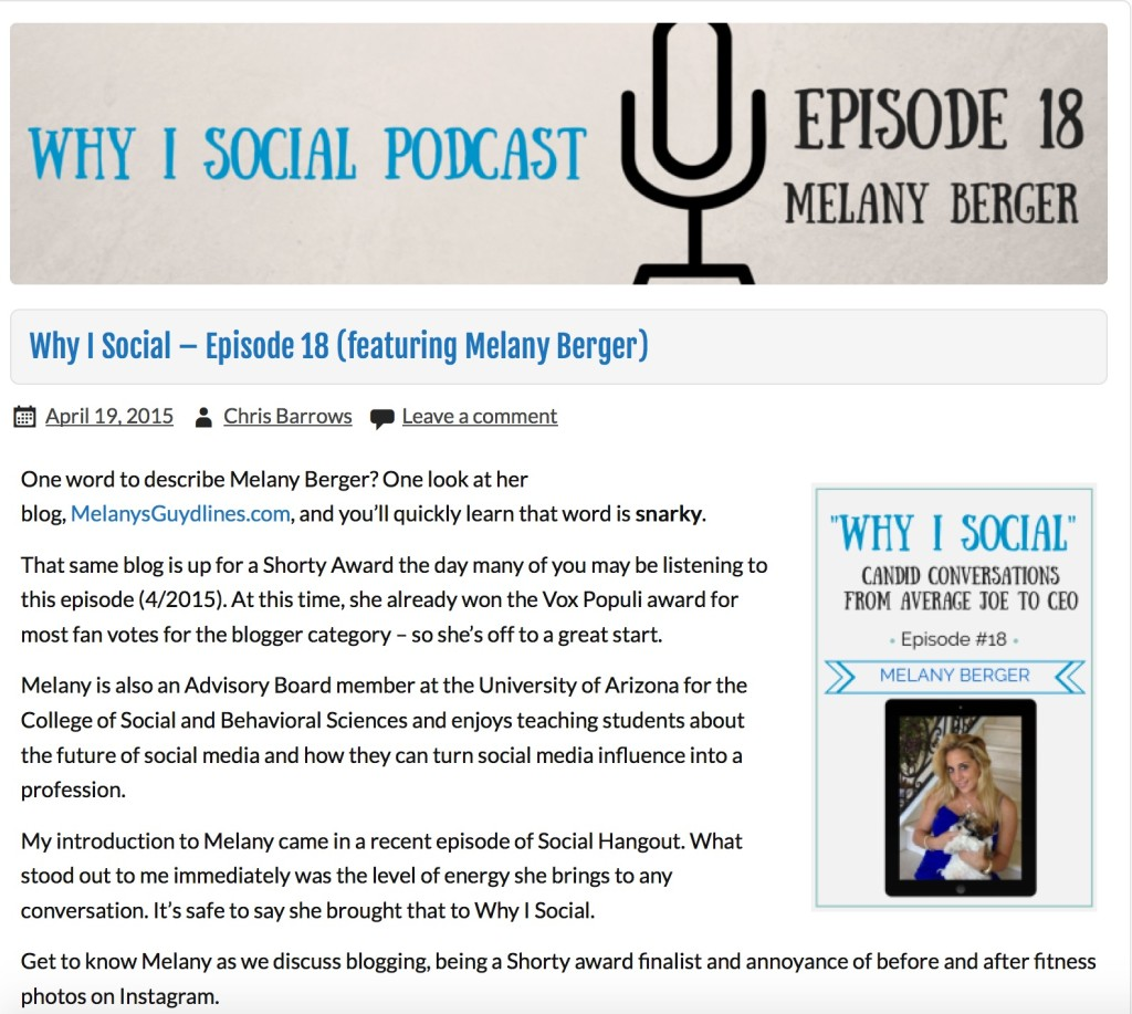 whyisocial podcast with Melany Berger