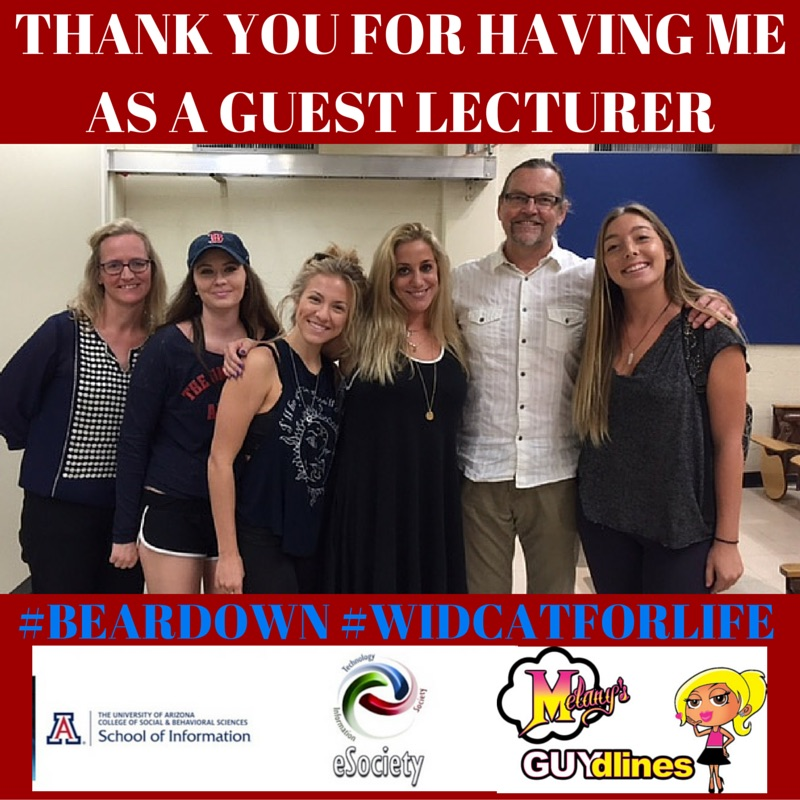 My Guest Lecture At The University of Arizona On Social Media