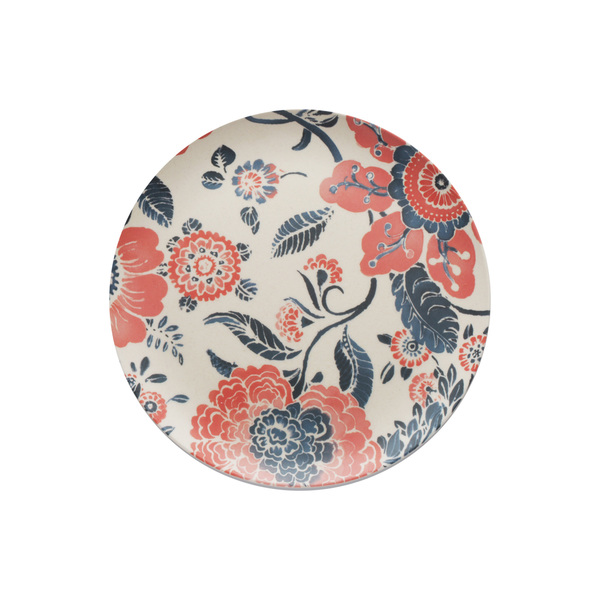 Caribbean Joe Peach Floral Set of 4 Salad Plates