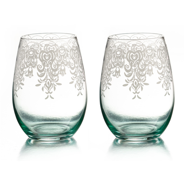 WIN Lace Stemless Glasses (Set of 2)