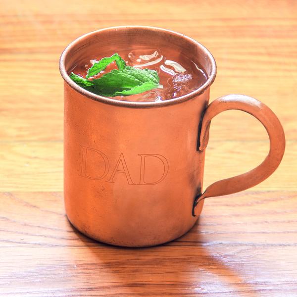 'Dad' Moscow Mule Copper Mug with Polishing Cloth