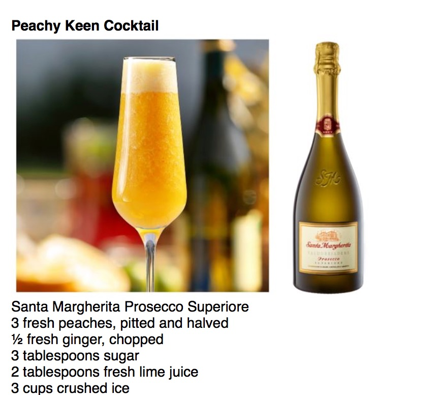 Peachy Keen Cocktail Santa Margherita