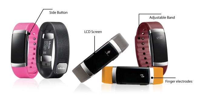 InBodyBAND is the first fitness wearable to measure fat, muscle mass, body fat percentage, and body mass index.