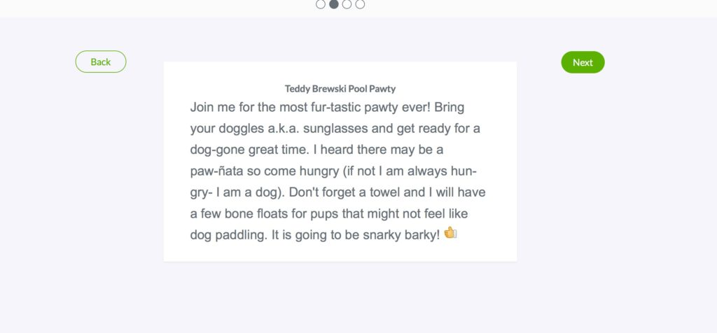 It is super easy to set up, use and make changes to the Pet Party Evite Invitations!