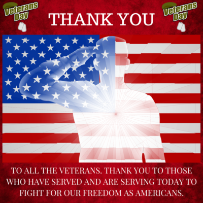 Thank You Veterans Today And Every Single Day