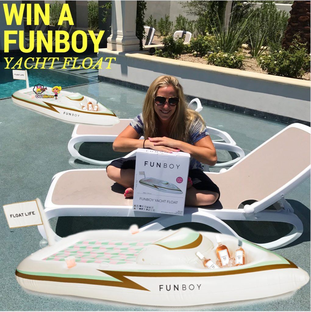 Win A 9 Foot FUNBOY Yacht Pool Float With Cooler For 2