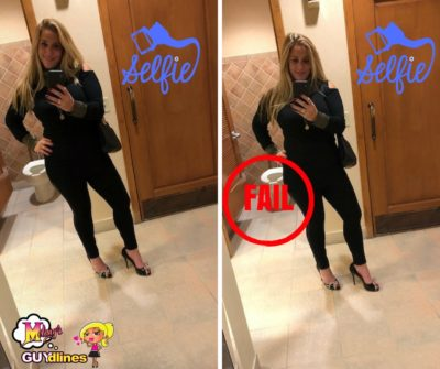 Look Both Ways Before Taking Selfies In Bathrooms: