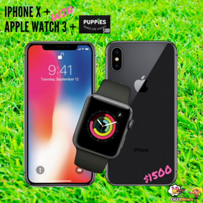 Win $1500 Apple Pack: iPhoneX, Apple Watch 3, Puppies Make Me Happy Gift Card