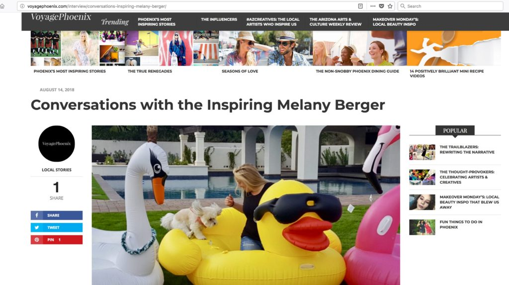 Interview: Conversations With Melany Berger Via VoyagePhoenix