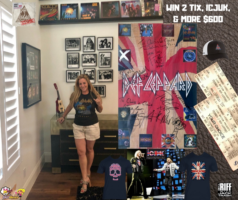 Win 2 Def Leppard/Journey Tickets Of Your Choice, ICJUK + Prize Pack $600