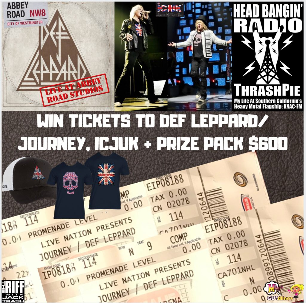 Win 2 Def Leppard/Journey Tickets Of Your Choice, ICJUK + Prize Pack $600!